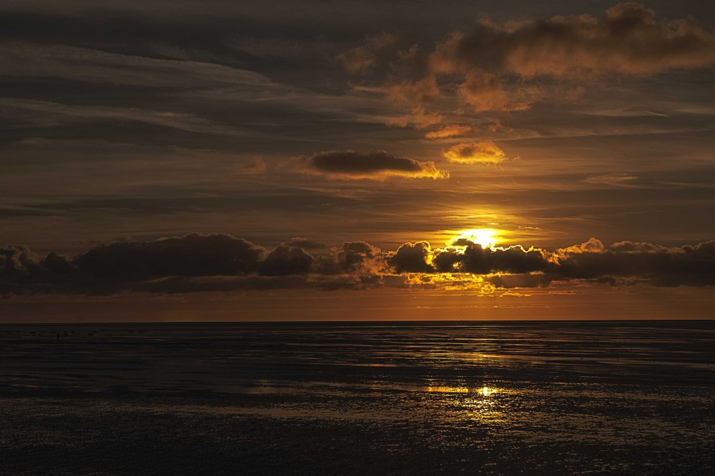 Sunset over the Irish Sea